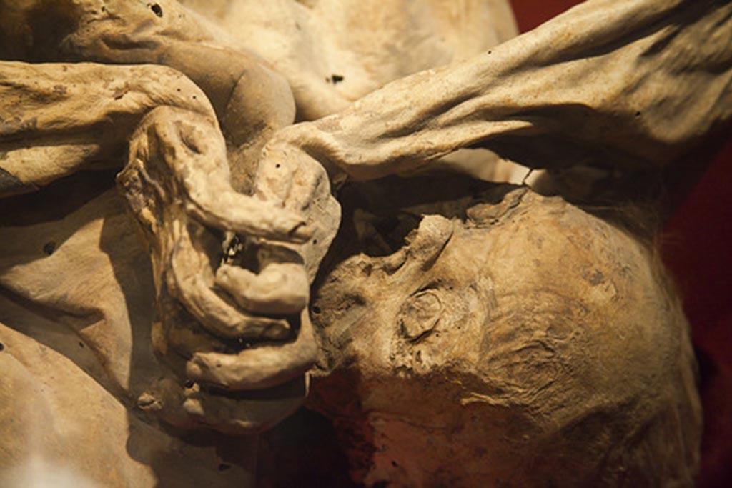 Останки человека, погребенного заживо