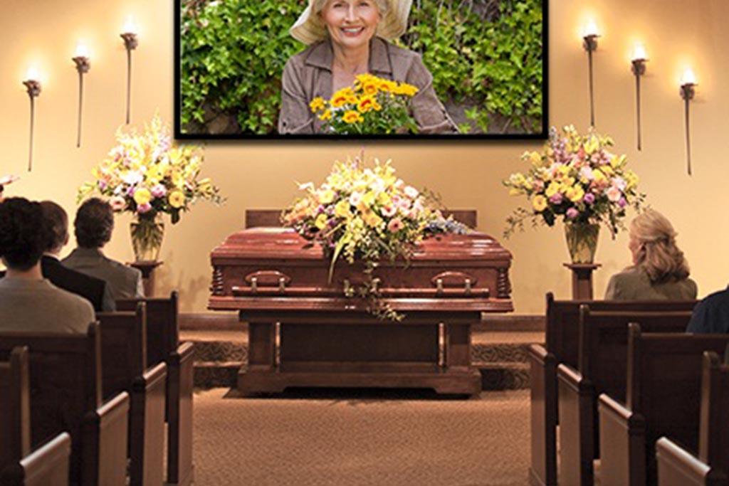 Похороны человека в закрытом гробу
