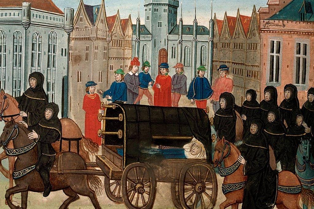 Средневековые плакальщицы в Европе