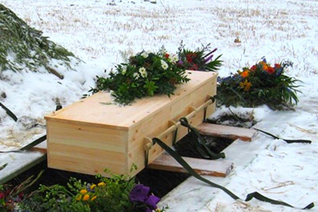 Для погребения