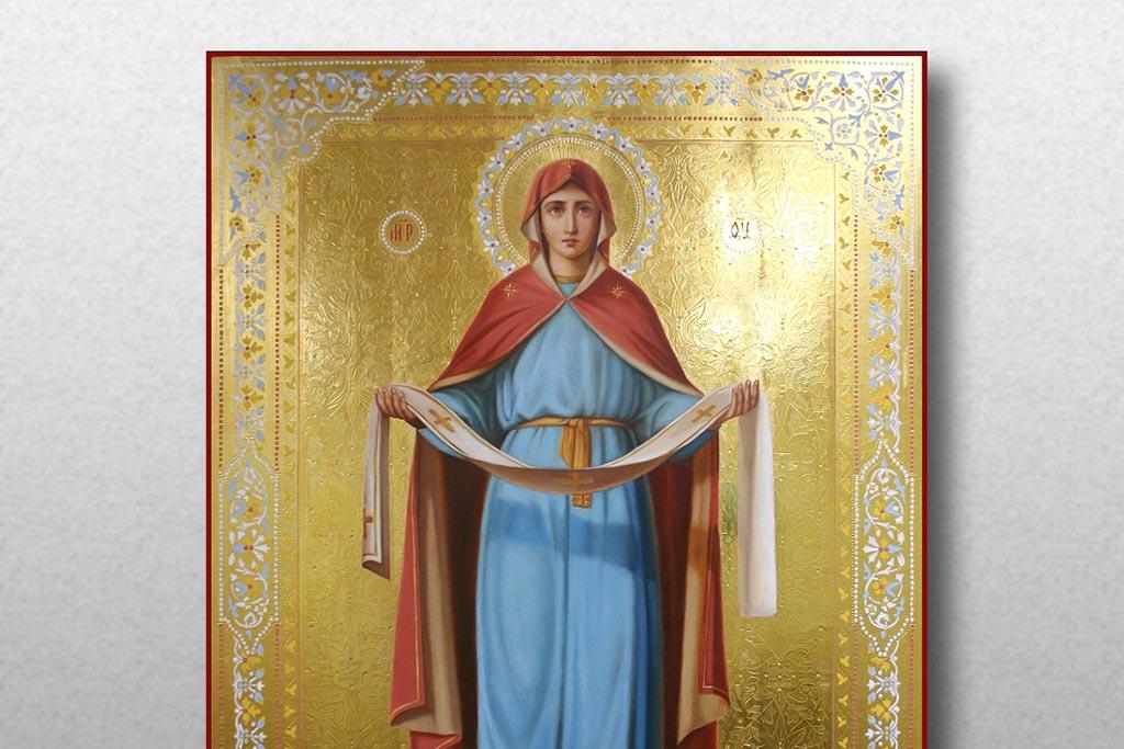 Изображение Богородицы женщине