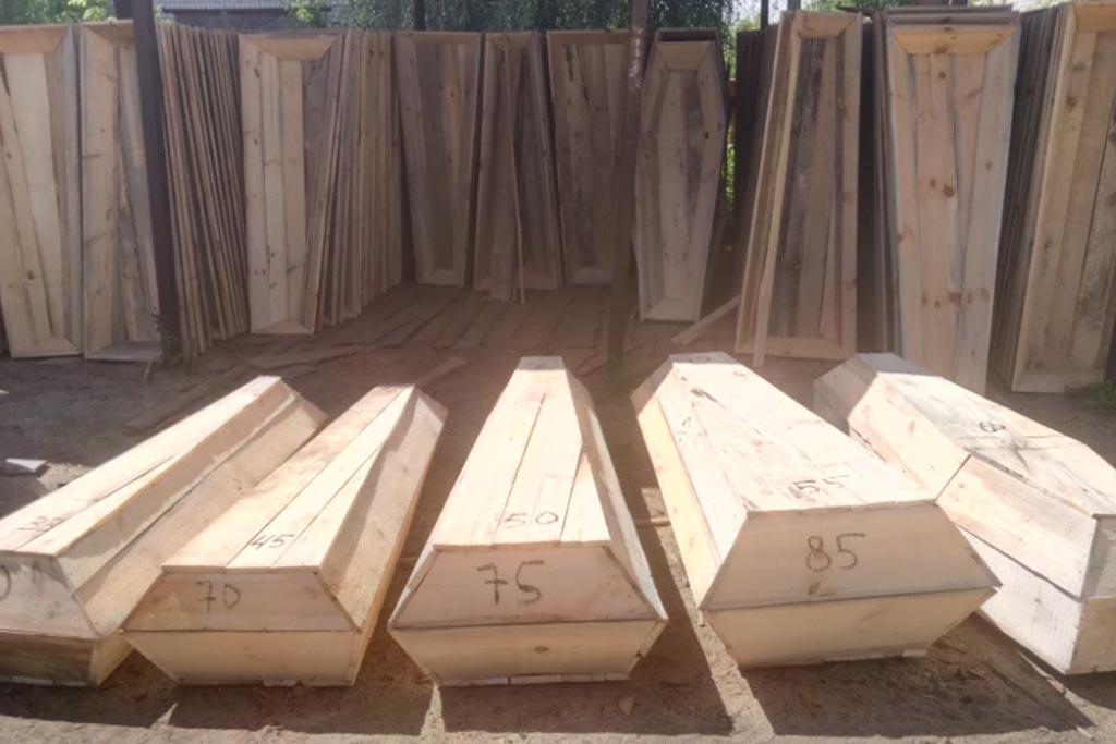 Размерная линейка гробов