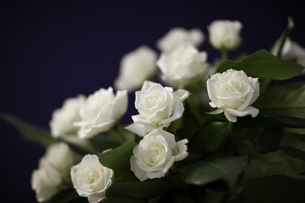 Цветы на могилу усопшей женщины