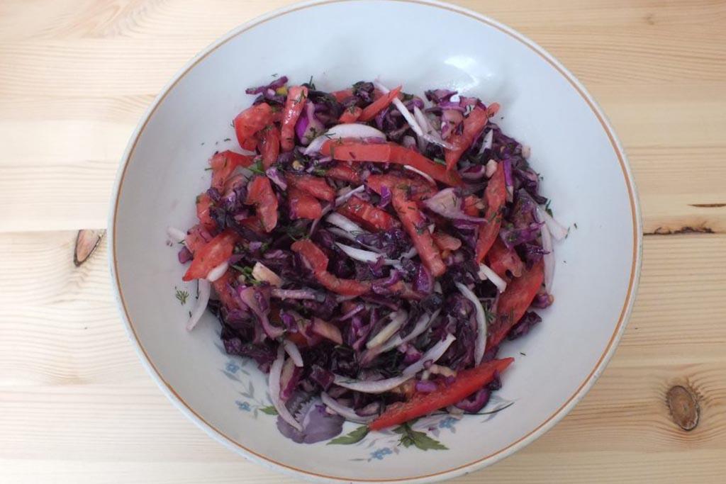 Рецепт № Салат из капусты
