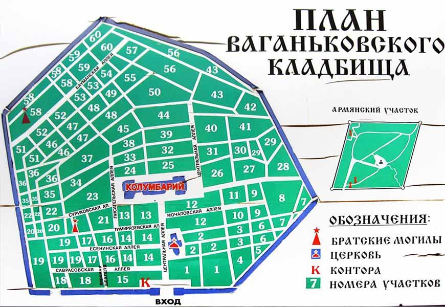 ТОП-20 самых больших кладбищ мира Ваганьковское кладбище