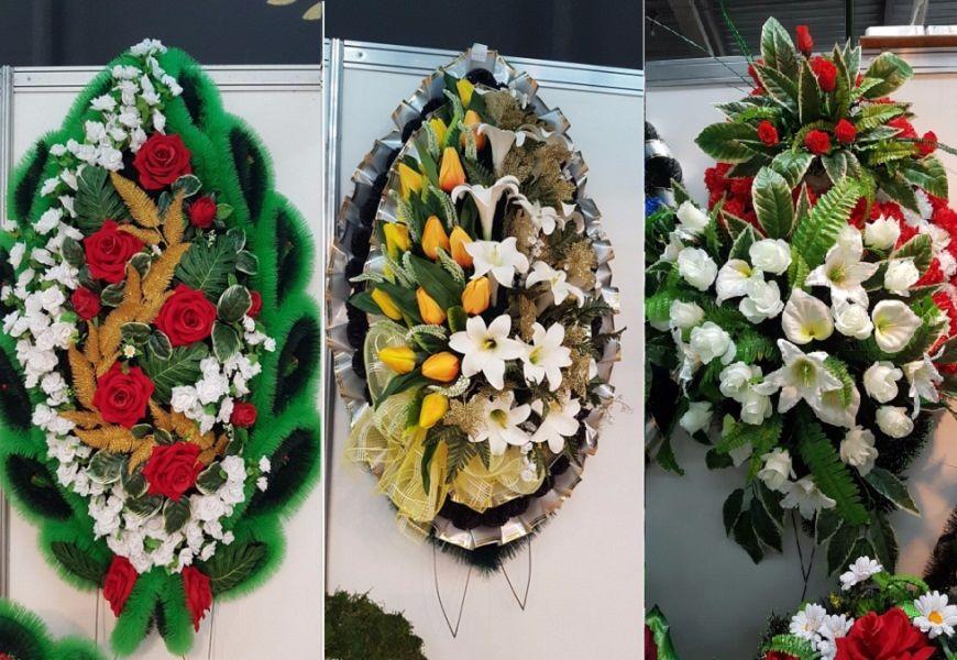 Венки ритуальные из искусственных цветов своими руками новые модели «элита»