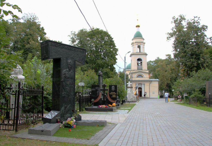 Некрополь Ваганьковского кладбища в Москве