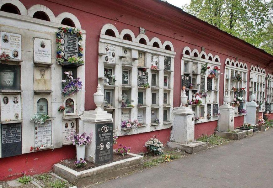 Новодевичье кладбище Москвы колумбарий