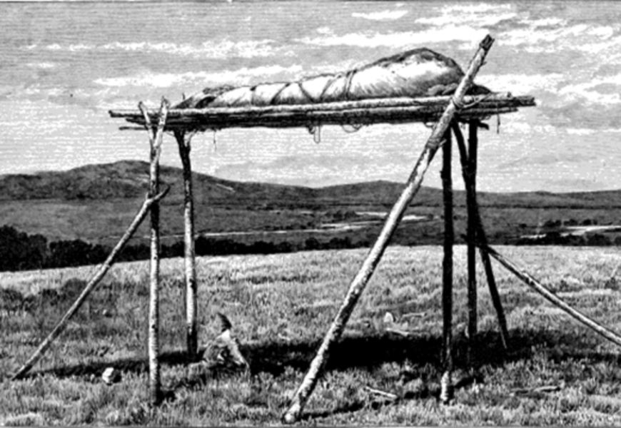 Воздушные захоронения в племенах