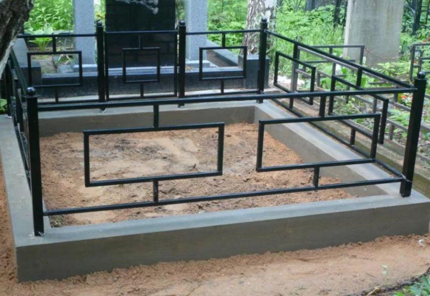 Ограда на могилу в ямы с бетонированием
