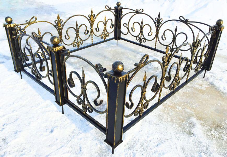 Оградка на могилу своими руками из профильной трубы на кладбище
