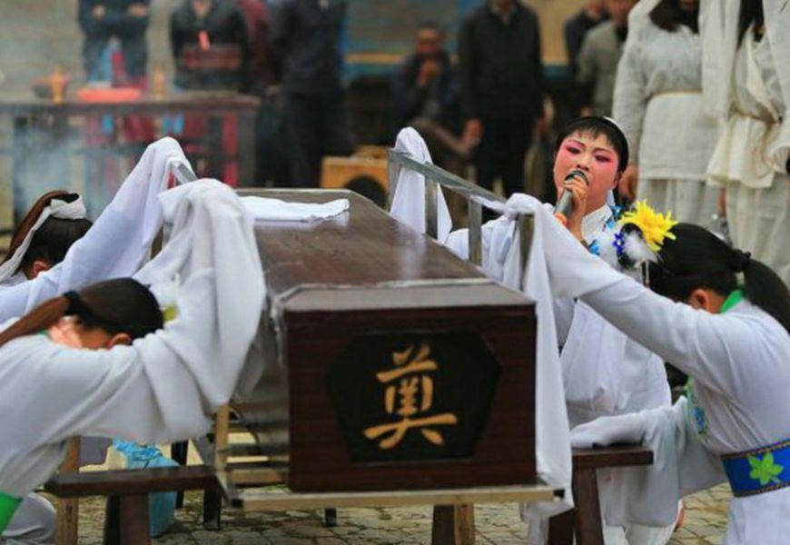 Традиционные похороны в Китае