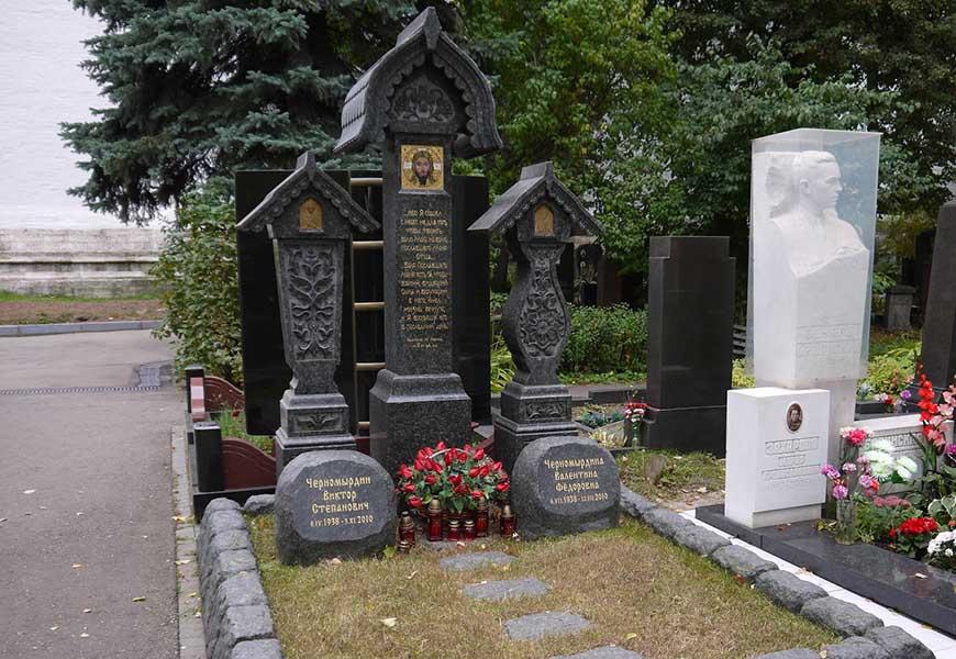 Могила Виктора Черномырдина
