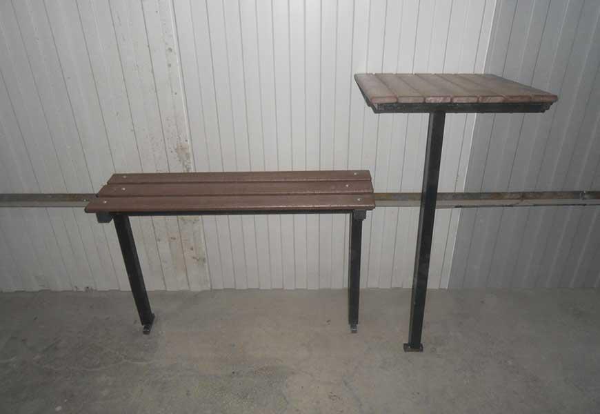 Упрощенный комплект стола и скамейки для благоустройства могилы